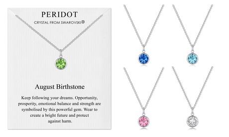 philip jones birthstone necklace with crystals from swarovski®