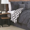 Pinch-Pleat and Chevron-Stripe Reversible Comforter Set (7-Piece)