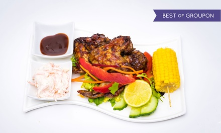 Caribbean Meal with Sides for Up to Three at Bayhams Jazz Bar Restaurant