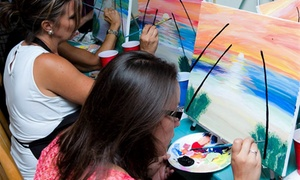 Admission for One, Two, or Four to Paint Party at Studio Artworld (Up to 65% Off)