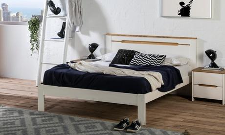Estructura de cama Sara y somier con opción a colchón