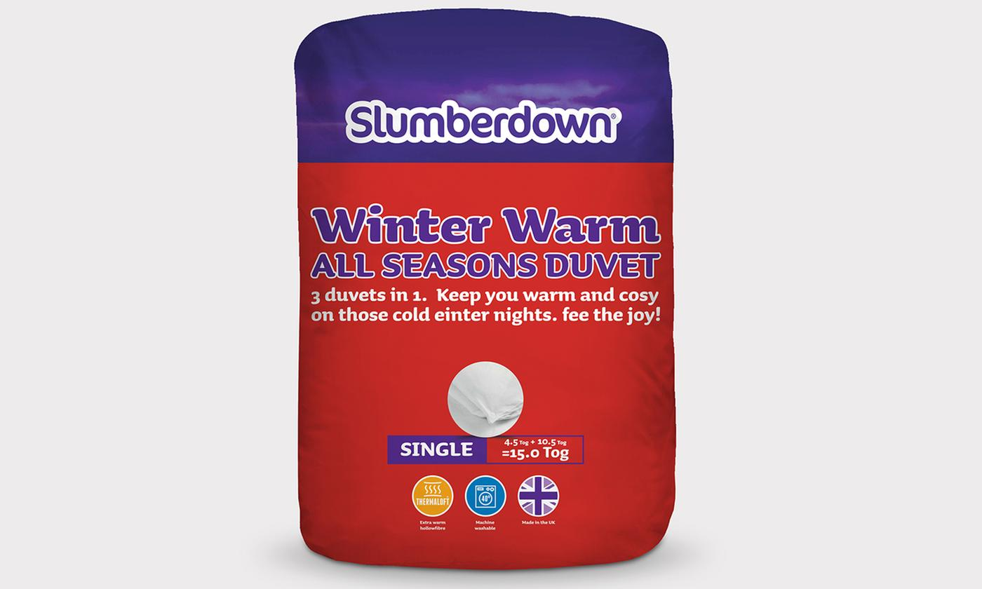Slumberdown Winter Warm All Seasons Three-in-One Duvet