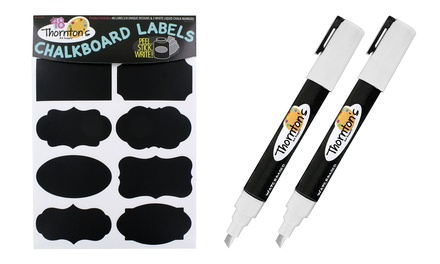 Thornton's Art Supply Chalkboard Labels with Chalk Markers