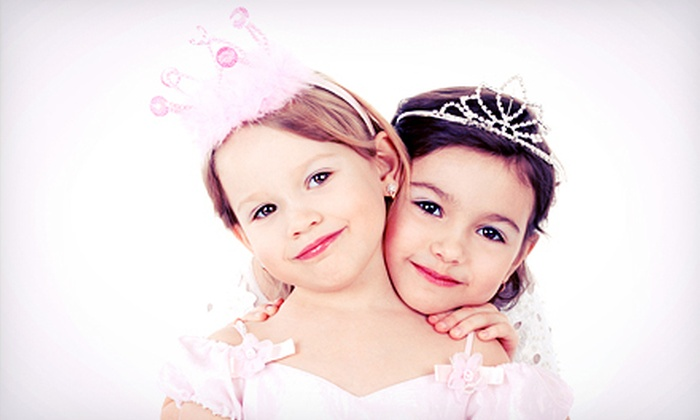Glamour Girlz - Glamour Girlz Central: Makeover Package with Tiara for One or Two Girls at Glamour Girlz (Up to 52% Off)