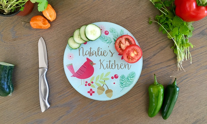 51 off personalized glass cutting boards from qualtry livingsocial - Tempered glass cutting board personalized ...