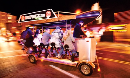 Bicycle Pub Crawl for One, Two, or Four or Private Crawl for Up to Eight at Vegas Pub Crawler (Up to 20% Off)