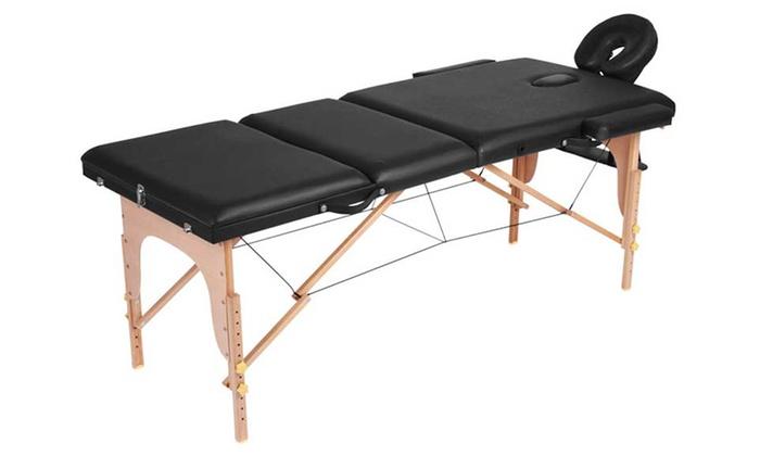 Table Massage 3 Zones Design Bois Groupon