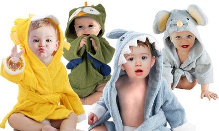 1x oder 2x Bademantel für Babys aus reiner Baumwolle im Tiermuster nach Wahl (Koln)