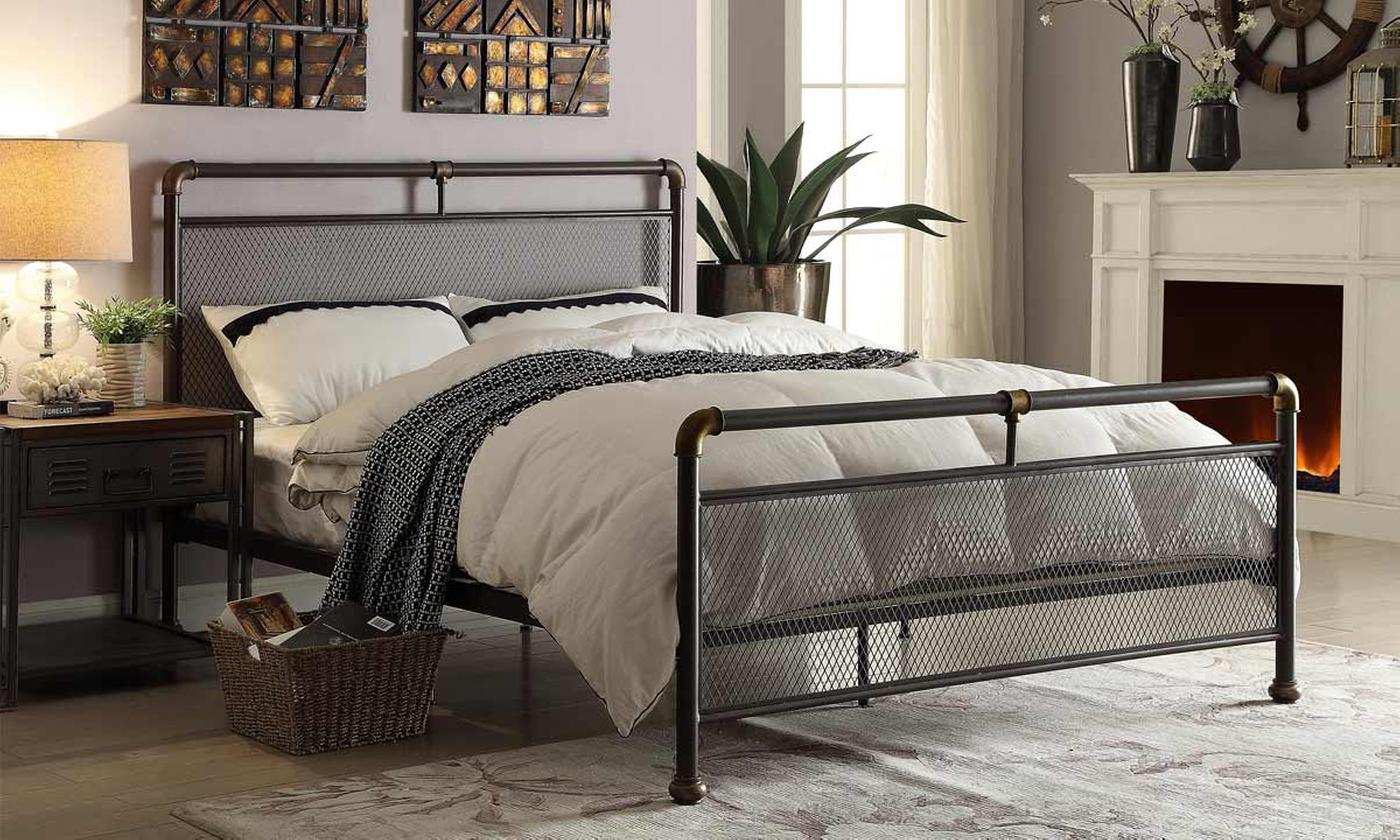 Cambridge Industrial Scaffold Bed with Optional Mattress (£350)