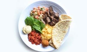 $12 for Two Groupons, Each Good for $10 Worth of Mediterranean Food at Babaziki ($20 Total Value)