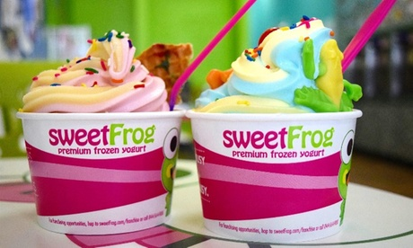 $7.50 for $10 Worth of Frozen Yoghurt for Takeout at SweetFrog - Premium Frozen Yogurt