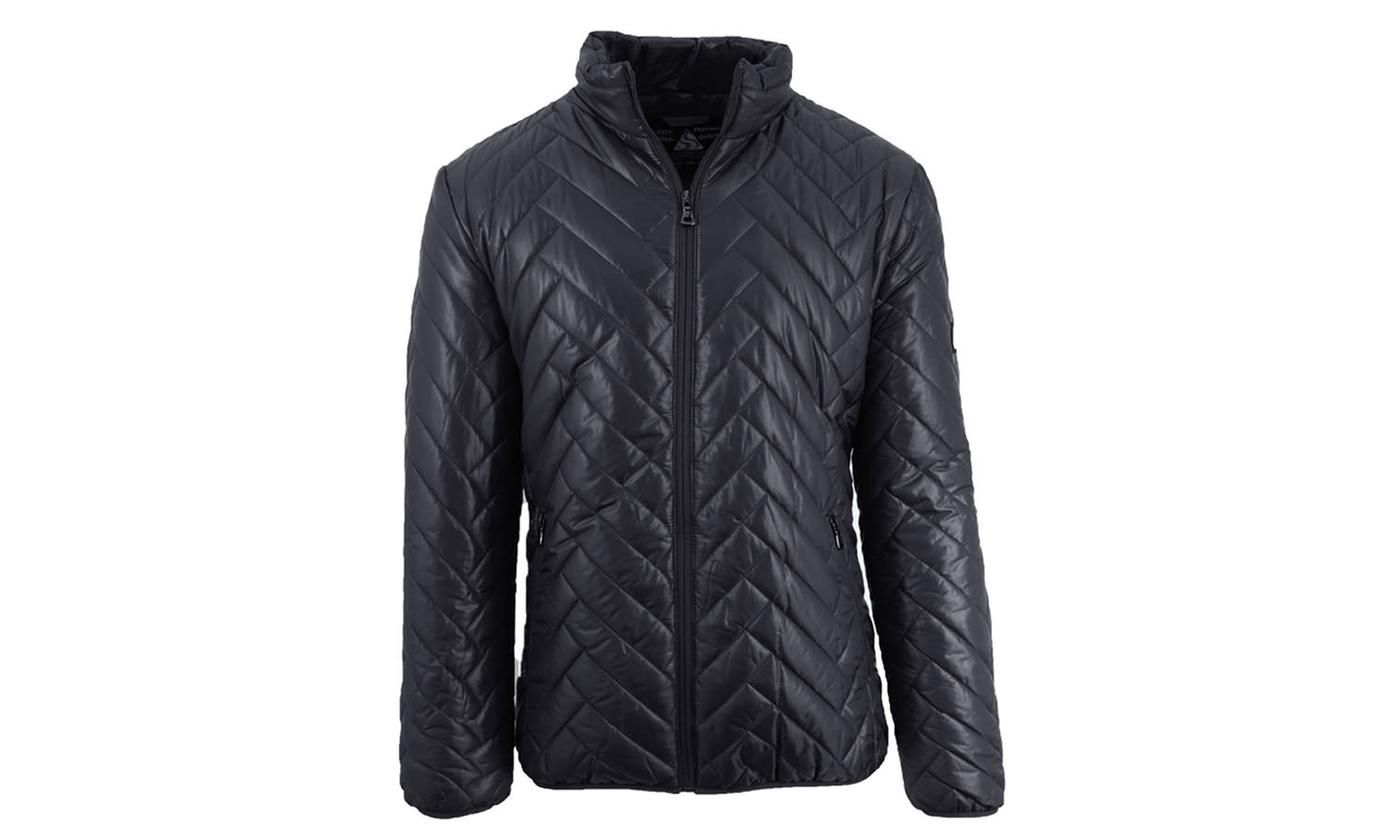Galaxy Spire Mens Mid-Weight Quilted Puffer Jackets