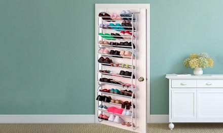Schoenenkast Voor 36 Paar Schoenen.Schoenenrek Voor Aan De Deur Met Plaats Tot Maximaal 36 Paar