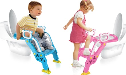 One or Two Toddler Toilet Training Ladder and Seats