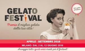 Zenais spa: Gelato Festival, dal 2 al 12 giugno a Milano (sconto fino a 67%)