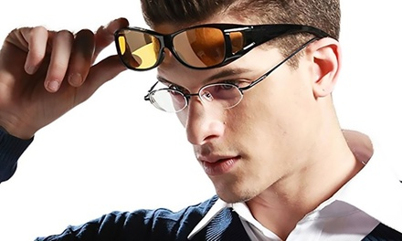 1 ou 2 paires de lunettes vision HD nocturne
