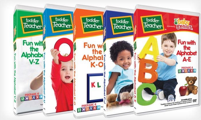"Baby Genius Fun with the Alphabet DVDs: $25 for a Baby Genius Toddler Teacher ""Fun with the Alphabet"" DVD Series ($50 List Price). Free Shipping and Returns."