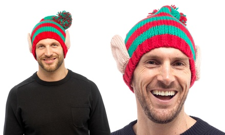 One or Two Men's Christmas Elf Novelty Hats