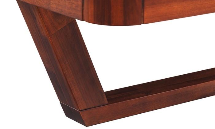 Letto e comodini in legno di acacia | Groupon Goods