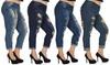 V.I.P. Jeans Women's Plus Size Distressed Skinny Jeans: V.I.P. Jeans Women's Plus Size Distressed Skinny Jeans