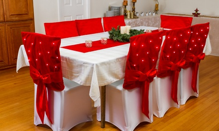 Pre-Lit Twinkling LED Chair Covers (2-, 4-, or 8-Pack)