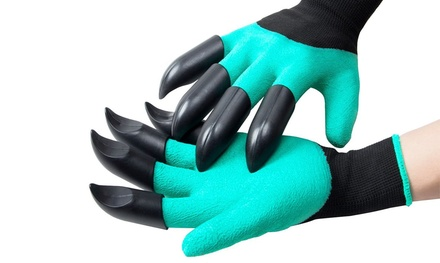 One or Two Pairs of Vivo Garden Gloves with Claws for Digging and Planting
