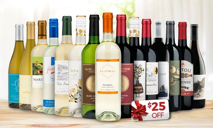 Choose from a variety of wines from around the world