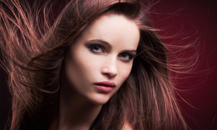 Eden Salon & Spa - Lisle: Haircut and Style with Partial or Full Highlights, or Keratin Smoothing Treatment at Eden Salon & Spa (Up to 67% Off)