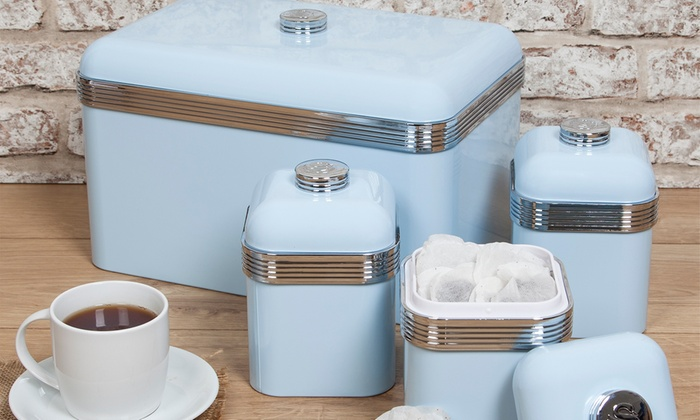 Up To 24 Off Swan Bread Bin And Canisters Set Groupon