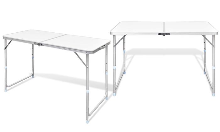 Table pliante camping ajustable groupon shopping - Table ajustable en hauteur ...