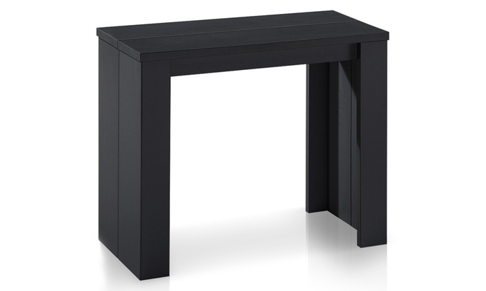 console extensible brookline groupon shopping. Black Bedroom Furniture Sets. Home Design Ideas