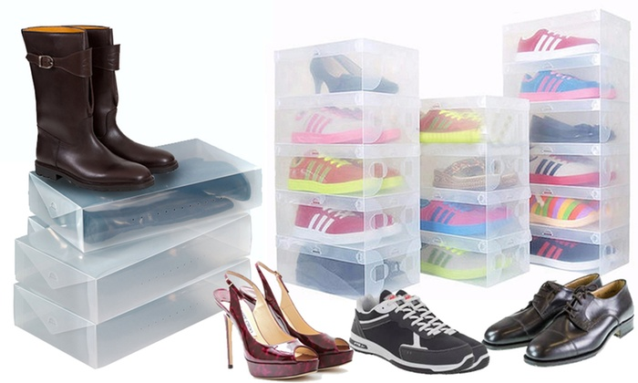 bo tes chaussures transparentes groupon shopping. Black Bedroom Furniture Sets. Home Design Ideas