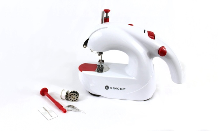 Singer Stitch Sew Quick 40 Handheld Sewing Machine Groupon Magnificent How To Use Singer Handheld Sewing Machine