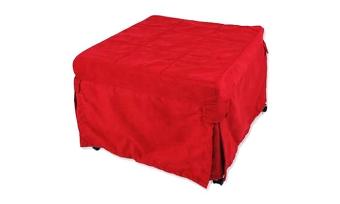 Folding Ottoman Single Sofa Bed Groupon Goods