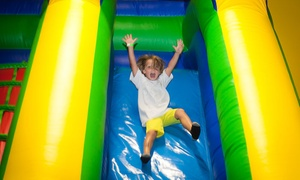 Hop N Happy: Three or Six Groupons, Each Good for One Open-Bounce Visit at Hop N Happy (Up to 34% Off)
