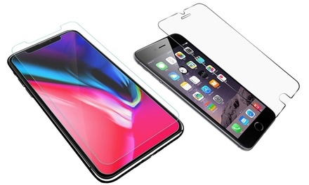 Tempered Glass Screen Protectors for iPhone 6/6S, 6 Plus/6S Plus 7/8, 7 Plus/8 Plus, X/XS, XS Max, or XR