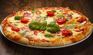 New Inn Pizza: Chef's Special Pizza with Drink for One ($11.50), Two ($22) or Four People ($43) at New Inn Pizza (Up to $63.96 Value)