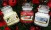 Three Yankee Candle Festive Jars