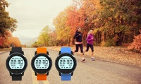 $59 for a Bluetooth F68 Sports Smartwatch in Black, Orange or Blue