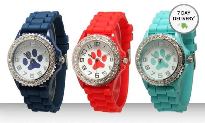 Geneva Women's Paw Watches: Geneva Women's Paw Watches. Multiple Colors Available. Free Returns.