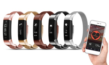 Fitnesstracker AQ115 met metalen band