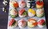 Große Sushi-Platte und Vorspeise