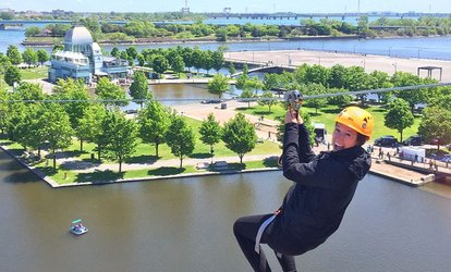 $14.99 for a Zipline Experience with Video at Tyrolienne Mtl Zipline ($25 Value)