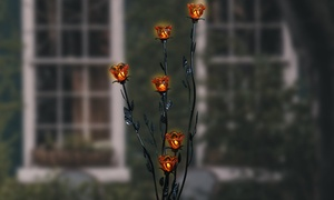 Six-Blossom LED Standing Candelabra with Timer
