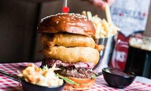 Tribeca West End: Specialty Burger and Side of Fries for Two at Tribeca West End (Up to 49% Off)