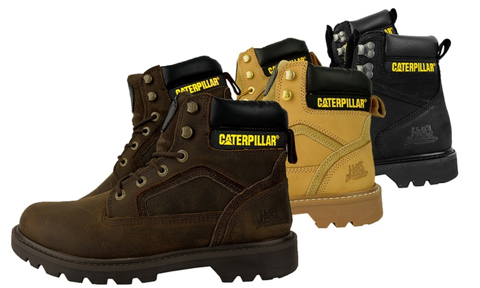 76e3faa498ae96 Boots Caterpillar en cuir homme | Groupon