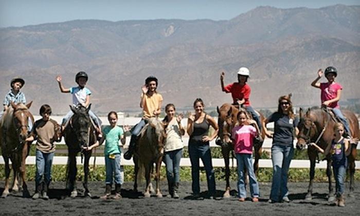 El Camino Ranch - Crafton: Horseback-Riding Lessons, Party, or Five-Day Summer Camp at El Camino Ranch in Redlands (Up to 64% Off)