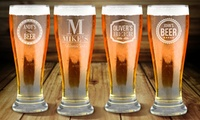 Premium 16oz. Beer Glass from Fabness (1-, 2-, 4-, or 8-Pack)