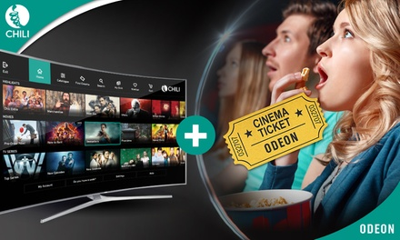 £10 Towards the Newest Movies from CHILI plus for you a CinemaTicket at ODEON Cinemas