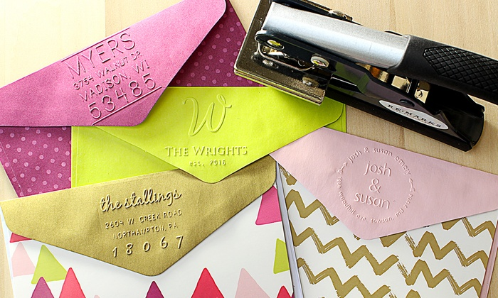 up to 53 off on personalized embossers groupon goods